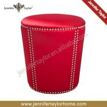 new customized fabric round antique stool
