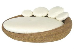 Resort leisure rattan outdoor furniture massage bed
