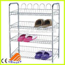 Alta qualidade DIY chormed sapato prateleiras rack de, Sapateira simples projetos, Barato sapateira idéias