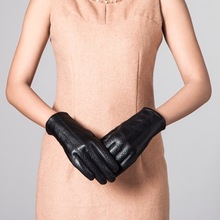 Fashion Women Sheep Leather Dress Gloves With Embroider