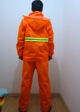 new style 100%polyester motorcycle high visibility reflective safety rain suit with zipper and pockets