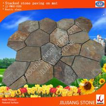 Rusty crazy paving stone slate