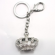 2014 Promotional Crown Shaped Sliver Plated Fashion Design Keychain