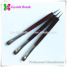 Nail supplies red wooden nail art french finger brush kolinsky hair