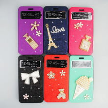 Bling 3D Diamond Leather Case For Samsung Galaxy Grand Prime G530F G530H G5306W