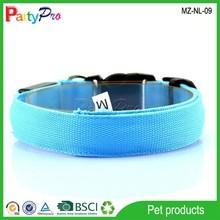 Hot Sale S/M//L/XL 4 Size Decorative Elastic Dog Collar LED Nylon Dog Collar for Dog Collar LED