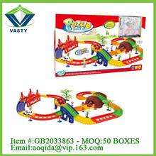 Cartoon intelligence toy rail car toy jiada slot car