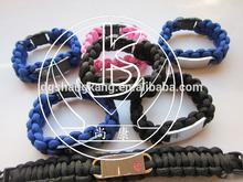 American football team paracord braided sport bracelet,nfl paracord survival braceletswith dogtag
