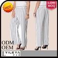 preto e branco listrado moda mais recente modelo novo calças