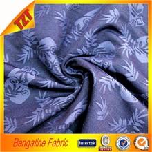 Dyed Jacquard bengaline fabric