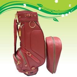 High-Grade Red PU Golf Bag