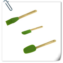 Super quality new arrival bamboo spoon silicone
