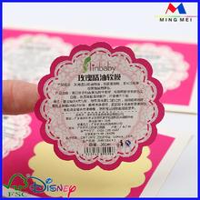 Pink paper printing nail sticker,inkjet photo sticker paper,Fancy Fluorescent sticker paper