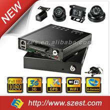 1080P(Full HD) HDD GPS 3G wifi build-in G-sensor anti vibration 4/8channel 12V car video recorder