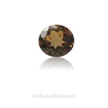 Semi-precious gemstone calibrated size brilliant cutting Round Mango Magic Topaz