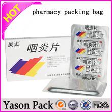Yason pharmacy printed bags drug bag bottle plastic pharmacy