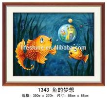 """Dream of the golden fish "" DIY Full Diamond Painting"
