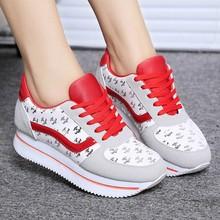 Wholesale Fashion Breathable comfortable single shoes increased platform Sports shoe