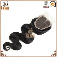 Cheap Human Hair Lace Closure Middle Parting Brazilian Body Wave Hair Closure 4 Bundles Virgin Brazilian Hair with Closure