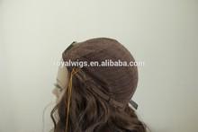 Natural Wavy 18 inch 4# Color Jewish Wig Human Hair Band Fall