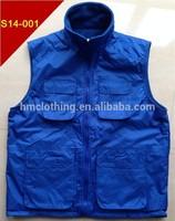 reversible fashion outdoor waist coats vest fishing vest