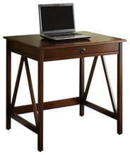 One draw ,modern office wooden computer desk/table with wood veneer