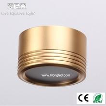 china factory supply round smd led downlight 3W housing aluminum gold finish ce&rohs