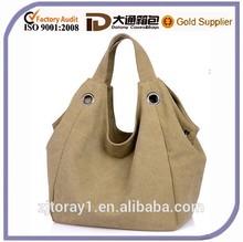 Plain Canvas famous designer handbag big size shoulder bag women