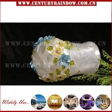 Polyresin hotel sanitary product flower pattern toothbrush holder