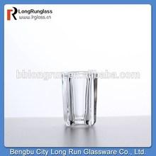 LongRun novelty chinese style cheap quality round shot glasses white wine glass clear ,set of six