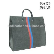 luxury shopping bag/ pu leather handbag for female