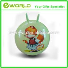 Wholesale customized sheep-horn handle ball/kid toys/jumping balls