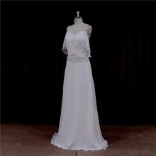 Factory direct flower brooch bridal dress pleated organza