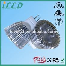 ETL CE ROHS listed Narrow beam gu4 base led recessed spotlight 3W 12 Volt mr11 led light