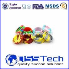FDA 7ml customized small silicone jars dab wax container/ butane hash oil silicone container
