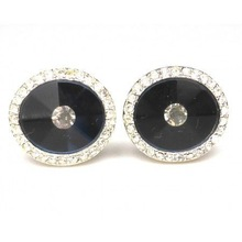 Special newest rectangle silver metal cufflink gifts