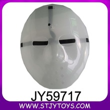 White color glow in the dark party face mask for promotion