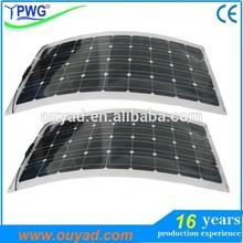 Monocrystalline semi flexible solar panel 50W 60W 100W cheap price made in china