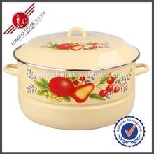 2015 Easy Cooking Clean Yellow Enamel Pot Kitchenware
