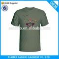 Custom barato mens planície cor 100% algodão volta do pescoço camiseta jersey único