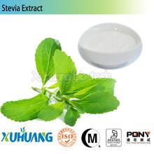 Factory Supply Kosher Halal stevia extract 90% stevioside pure powder