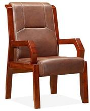 leather office chair / conference room chairs/ solid wood chairs D342