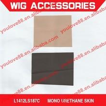 Mono urethane skin for wig caps, thin skin wig caps, mono skin for monofilament wig cap