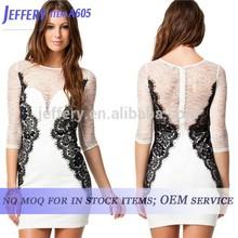 2015 women smart casual dress new sexy lace dresses for women half sleeve pakistani sexi girls A605