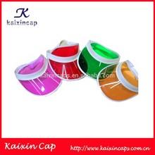 muti color wholesale transparent pvc sun visor caps