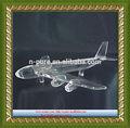 venta al por mayor por encargo de cristal modelo de avión