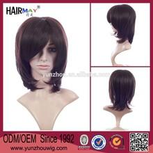 Black short hair lace wig silk top