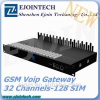 most successful 32 port 128 sim gsm gateway for call termination 16 channel 64 sims gsm gateway gsm modem sim bank voip internet