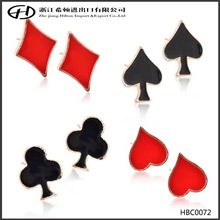 Paint cards dots brooches with hearts diamonds clubs and spades