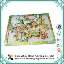 Shaped paper children educational games puzzle